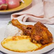 Receta pollo al horno con papas