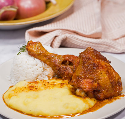 Pollo al Horno con Puré de Papas