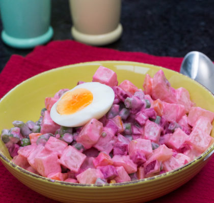 Ensalada Rusa (Con Mayonesa y Aliño Saludable)