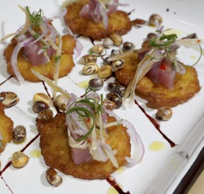 Torrejitas de Choclo con Bonito y Chinguirito